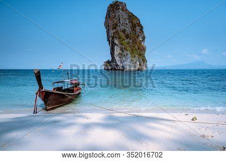 Koh Poda Thailand, The Beautiful Landscape Of Koh Poda Or Poda Island In Krabi Province Of Thailand.