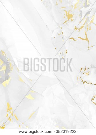 Golden Marble Vector Texture. Magic Rich Glowing Background. Elegant Geometric Template.grey Marbled