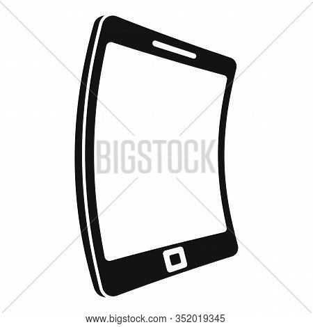 Electronic Flexible Display Icon. Simple Illustration Of Electronic Flexible Display Vector Icon For