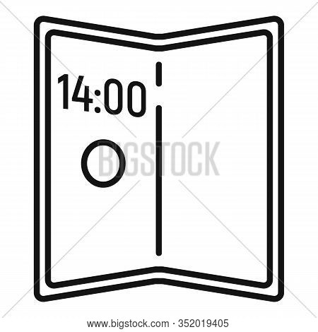 Artificial Foldable Display Icon. Outline Artificial Foldable Display Vector Icon For Web Design Iso