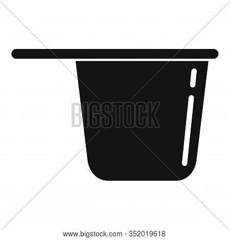Plastic Tableware Pot Icon. Simple Illustration Of Plastic Tableware Pot Vector Icon For Web Design