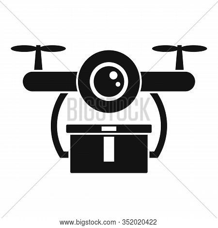 Quick Drone Delivery Icon. Simple Illustration Of Quick Drone Delivery Vector Icon For Web Design Is