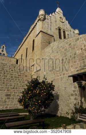 Carmelite Convent On The Hill Of David. In The Monastery Church There Is A Reliquary With The Relics