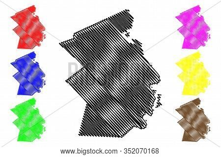 Flacq District (republic Of Mauritius, Island, Districts Of Mauritius) Map Vector Illustration, Scri