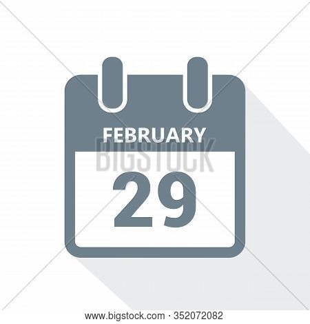 29 February In The Leap Year Calendar Vector Illustration Eps10