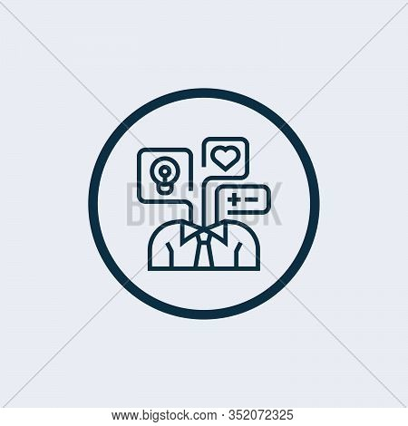 Mindset Icon. Premium Style Design, Pixel Perfect Mindset Icon For Web Design, Apps, Software, Print