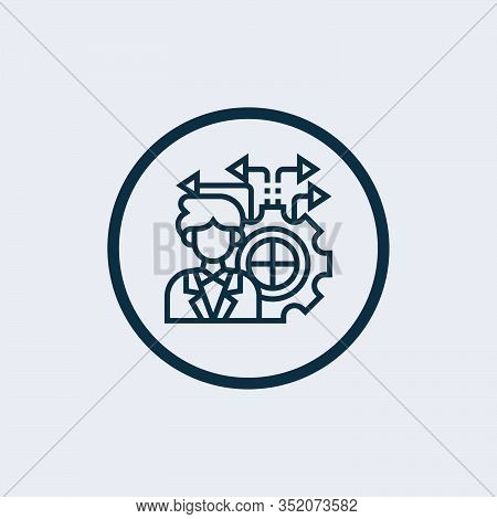 Decision Making Icon Vector. Trendy Flat Decision Making Icon From  Gdpr Collection Isolated On Whit