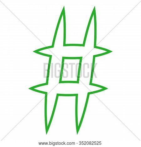Hashtag Icon. Simple Element Illustration. Hashtag Symbol Design From Social Media Marketing Collect