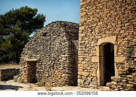 Old Handmade Stone Huts In Village Des Bories Near One Of The Most Beautiful Villages Of France Gord