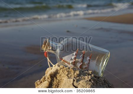 Sailcloth Ship In Bottle