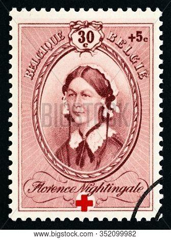Belgium - Circa 1939: A Stamp Printed In Belgium From The