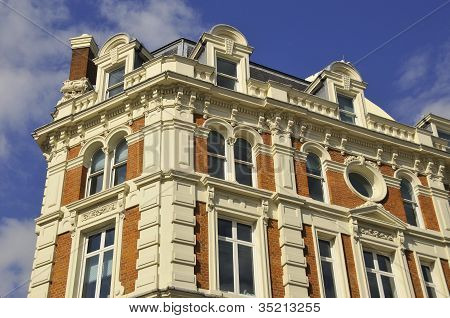 Detailed image of regency town houses in the Regent's Park area of London, UK poster