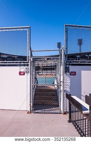 Pittsburgh, Pennsylvania, Usa 2/22/20 An Opening To The Outfield Seats In Pnc Park Where The Pittsbu
