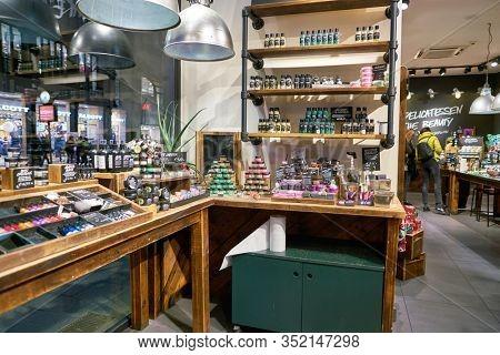 MILAN, ITALY - CIRCA NOVEMBER, 2017: interior shot of Lush store in Milan.