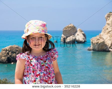 Little girl on a mediterranean holiday