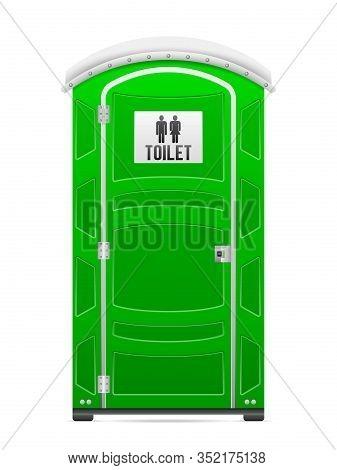 Portable Restroom On A White Background. Vector Illustration.