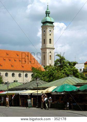Viktualienmarkt. Munich, Germany