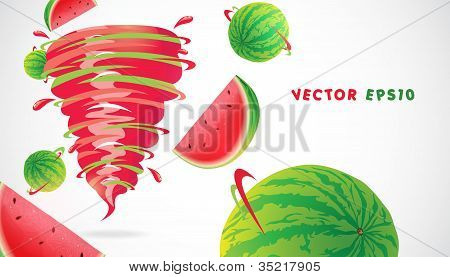 Watermelon with juicy twister