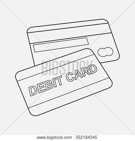 Debit Card Icon Line Element. Illustration Of Debit Card Icon Line Isolated On Clean Background For