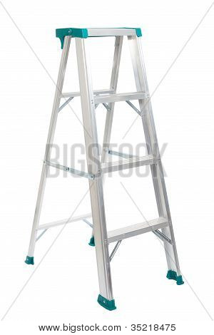 Step ladder isolated on white background