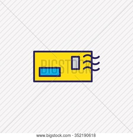 Vector Illustration Of Postcrossing Icon Colored Line. Beautiful Lifestyle Element Also Can Be Used