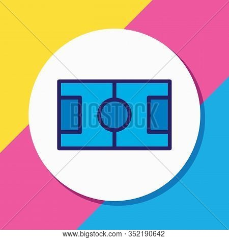 Vector Illustration Of Football Field Icon Colored Line. Beautiful Fitness Element Also Can Be Used