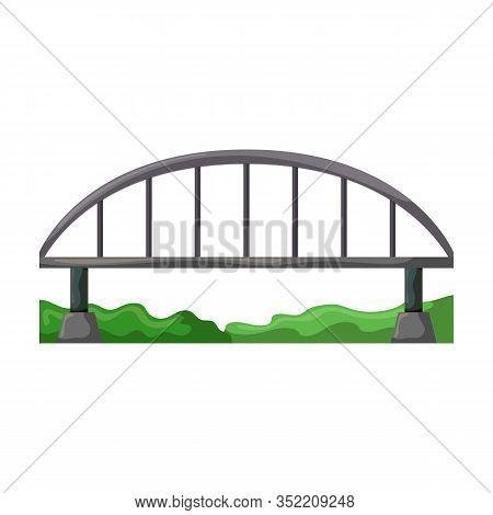 Bridge Vector Icon.cartoon Vector Icon Isolated On White Background Bridge.
