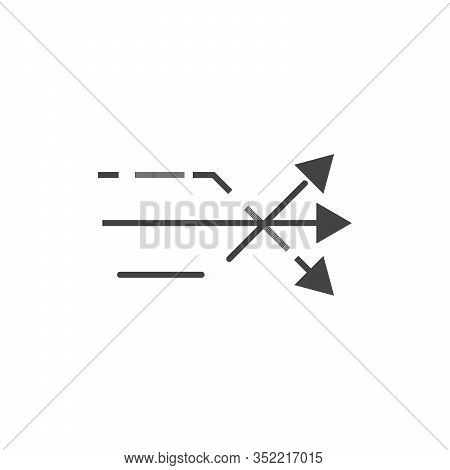 Three Different Arrows. Think Different Business Concept Arrow Icon. Stock Vector Illustration Isola