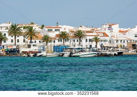 Menorca, Spain - October 12, 2019: Fornells Village Located In A Bay In The North Of The Balearic Is