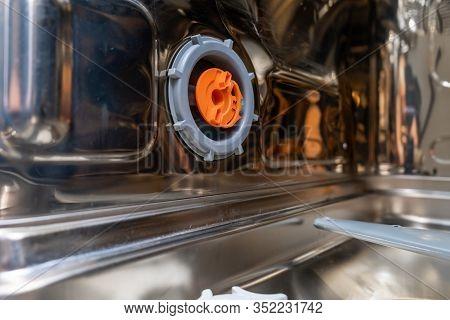 Water Softening System Regulator Of A Dishwasher That Controlls Dosage Of Salt In Dishwashing Machin