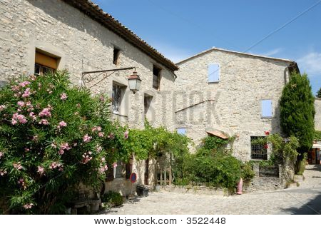 Houses in Vaison la Romain south France poster