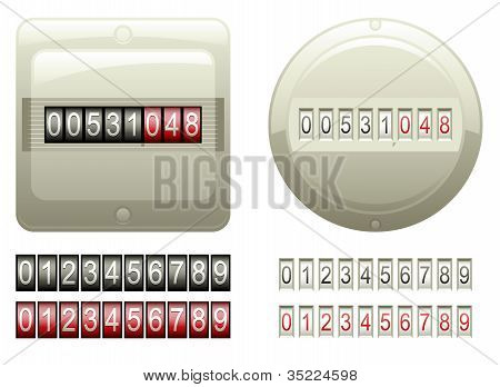 Mechanical Counters And Digits