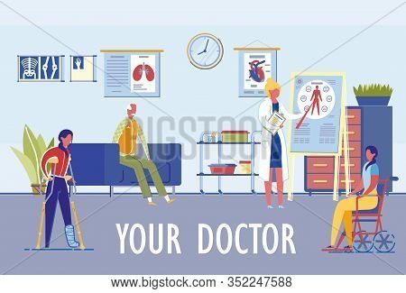 Family Medicine Clinic With Specialization In Various Medicine Fields. Choosing Doctor According To