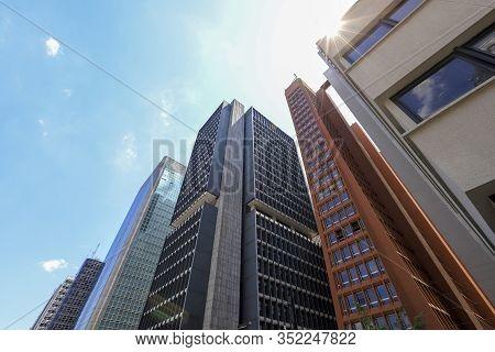 View Of Buildings In Avenue Paulista, Sao Paulo, Brazil