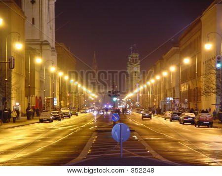 Munich At Night.