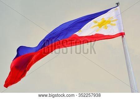 Manila, Ph- Dec. 29: Philippine National Flag On December 29, 2016 In Manila, Philippines. The Phili