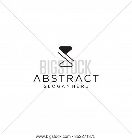 Monogram Letter P Logo With Thin Black Monogram Outline Contour. Modern Trendy Letter P Design Vecto