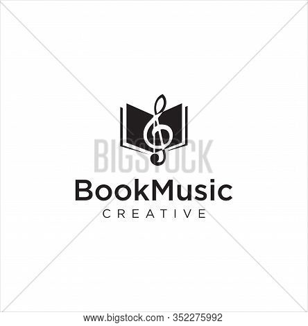 Note Music Book Logo Design Inspiration . Open Music Book Logo . Music Book Logo . Book Music And No