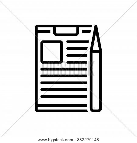 Black Line Icon For Project-briefing Briefing Discussion Information Conference Preamble Compose Tas