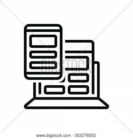 Black Line Icon For Responsive-design Responsive Design Compassionate Sympathetic Susceptible Consci