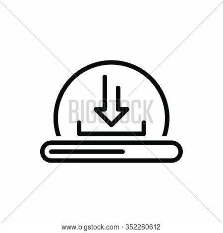 Black Line Icon For Download Computerize Initialize Program Application Direction Update Install Rec