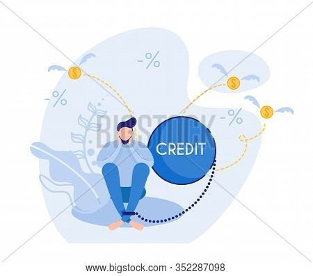 Credit Scores, Leading To Depression. Young Brunet, Feeling Flat. Debt Obligations As Heavy, As Weig