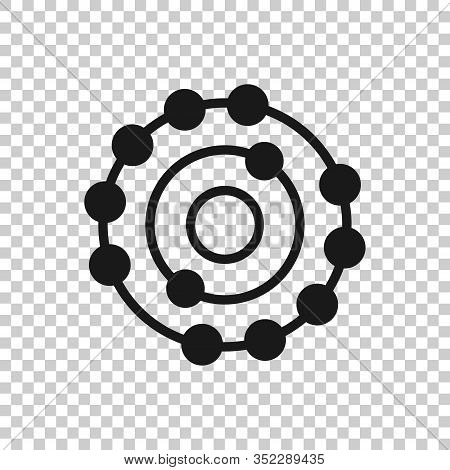 Antioxidant Icon In Flat Style. Molecule Vector Illustration On White Isolated Background. Detox Bus