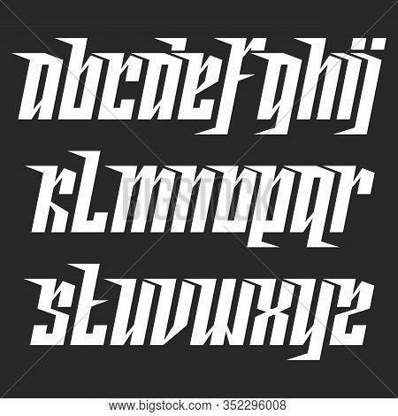 Modern Lowercase Italic Font With Movement, Compact Dynamic Alphabet With A Slant, Aggressive Concis