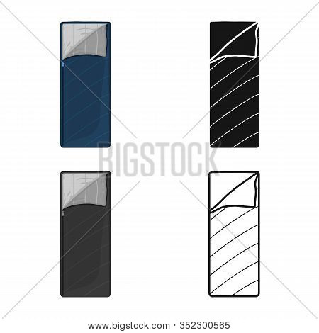Isolated Object Of Sack And Blanket Symbol. Web Element Of Sack And Sleeping Stock Vector Illustrati