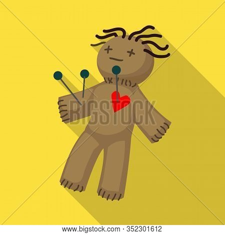 Isolated Object Of Voodoo And Doll Icon. Web Element Of Voodoo And Puppet Stock Symbol For Web.