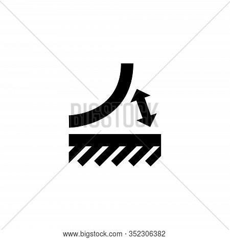 Peeled Off Material, Tear Off Glued. Flat Vector Icon Illustration. Simple Black Symbol On White Bac