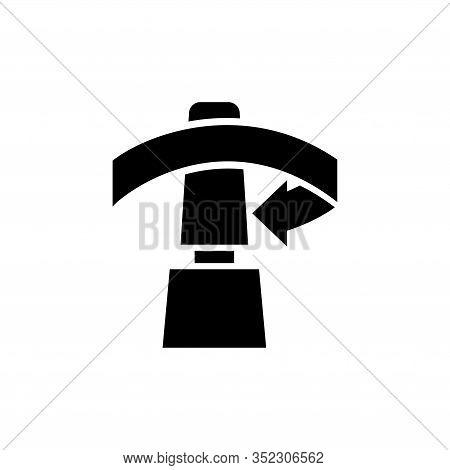Opening Bottle, Unscrew Cap Of Tube. Flat Vector Icon Illustration. Simple Black Symbol On White Bac