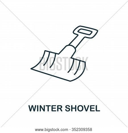 Winter Shovel Icon From Winter Collection. Simple Line Element Winter Shovel For Templates, Web Desi