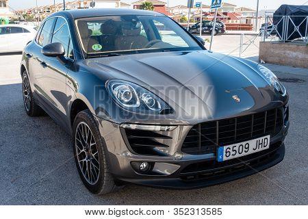 Torrevieja, Valenciana, Spain - Feb 17 2020 : Porsche Macan S Parked In Spanish Urbanisation
